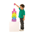 Crystal Colour Stacking Blocks,Translucent Colour light panel resources,sensory panel resources